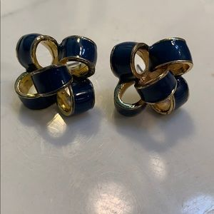 Lilly Pulitzer Navy Bow Earrings